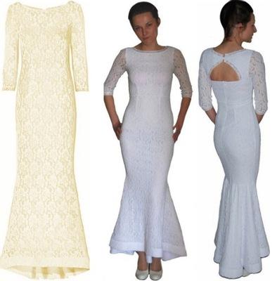 92ff232e1e piękna koronkowa sukienka maxi 36 - 7649414526 - oficjalne archiwum ...