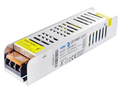 Блок питания для лент LED модульная SLIM 6 ,80W 7A 12В