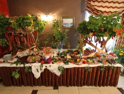 эко комплект свадебный деревенский стол , 15 кг, Сто пятьдесят человек.