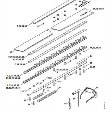 Nožnice na živý plot - STIHL HS87 HS86 nožnice na živé ploty 42377105907 nové
