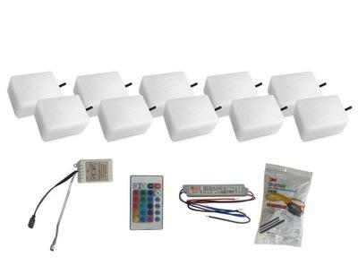 Záhradné svietidlo nájazdové - 10x žiarivý kábel LED 9X12 Nostalit RGB
