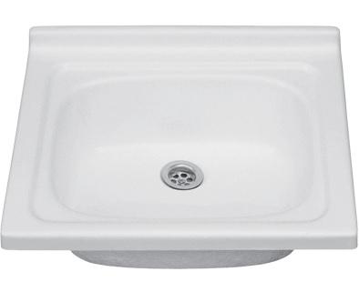 biele UMÝVADLO 52x47 1-komory je aplikovaný na