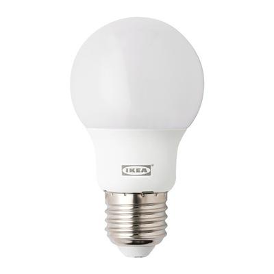 Икеа RYET Лампа LED 400л 5W E27 шар opalowa