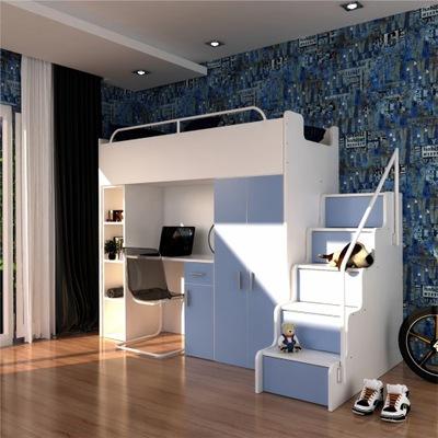 Łóżko piętrowe z szafą i biurkiem 9-kolorów