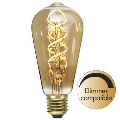 LED Žiarovka E27 ST64 3.8 V Vlákna systém kontroly