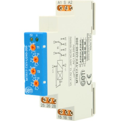 Przekaźnik czasowy 1-funkcyjny MTR17-TXY-U240-208