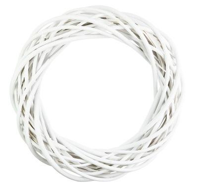 ВЕНОК ТОЛСТАЯ плетеная Белый 25см Ротанг украшение