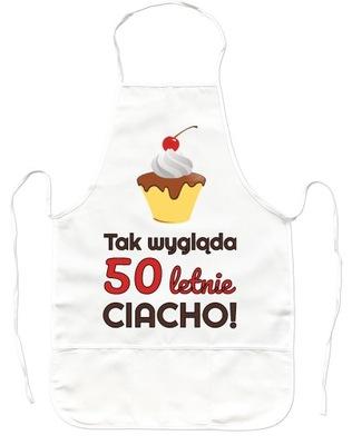 Kuchynská zástera - PREZENT NA 50 URODZINY Fartuszek Kuchenny, JAKOŚĆ!