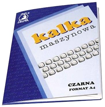 __KALKA MASZYNOWA A4 czarna 25 ark. biuro ŁÓDŹ