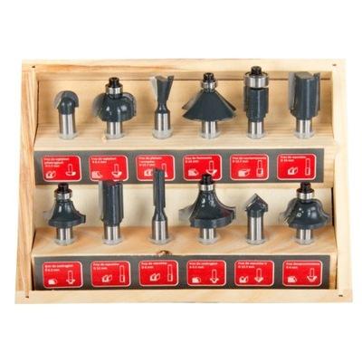 Frézky -Frézovací kufrík 12 ks PROLINE 93122