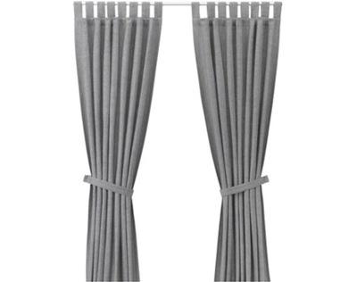 IKEA LENDA załony s postroj, 2 Ks sivá 140x300