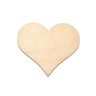 МАГНИТ сердце сердца из фанеры 10x8cm для украшения
