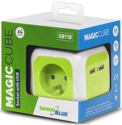 ?????????? Планка кубик Magic Cube 4 -гнезда USB