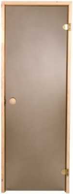 двери для сауну Fighter 69x189 см бронза Сосна САУНА
