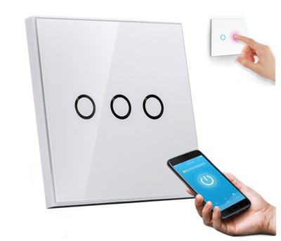 Выключатель света 3 Neo Wi-fi Алекса ТУЯ iOS ANDROID