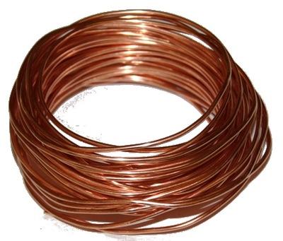 Medený drôt s priemerom 2 mm 10 metrov