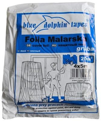 пленка малярная толстая Blue Dolphin 4м х 5м