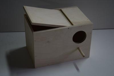 будка гнездования - для попугаев гофрированный ярко