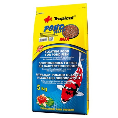 Tropical POND PELLET MIX 5kg - POKARM DLA RYB 40L