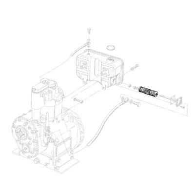 HATZ 40043800 фильтр топлива, E71, E75, E79 E780 E786