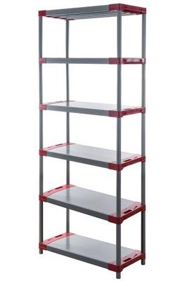 Regál - polica -  Skladovací stojan ako kovový Titanium-6 222x90x46
