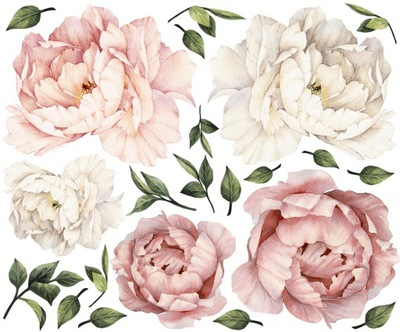 PIVONKY kvetov PIVONKY samolepky na STENU 160 GB