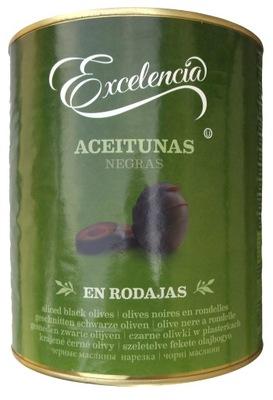 Оливки черные срезанные 3100ml 1560g EXCELENCIA