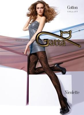 GATTA #68 rajstopy AŻUROWE Nicolette BAWEŁNA 4 L