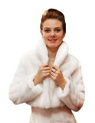 Bolerko ślubne futerko zimowe OKAZJA