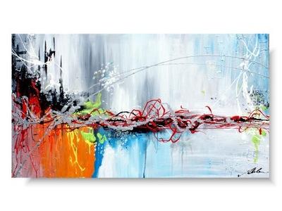 ODBER farba v obraze MOST, maľované na plátne