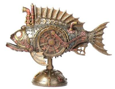 БОКС рыба ПИРАНЬЯ Стимпанк лампа VERONES