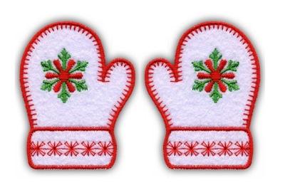 комплект 2 заработаем - перчатки праздник -вышивка -