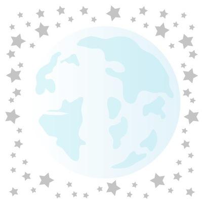 Nálepka na stenu mesiac hviezdy hviezda dekor