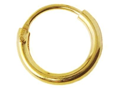 VERSIL kolczyk kółko koła złocone 8 mm SREBRO 925