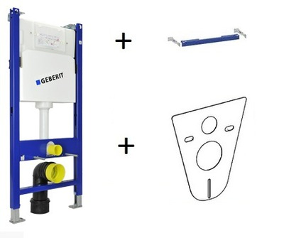 WC misa - GEBERIT DUOFIX BASIC UP100 H112 podpora + nadácia