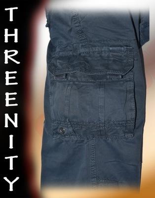 THREENITY No:C-003 BLUE-spodnie,bojówki,HIT! r 38*