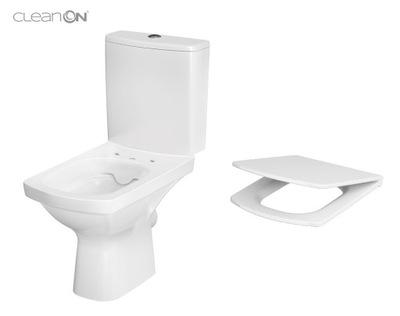 WC misa - CERSANIT KOMPAKT EASY CLEAN ON 010 + DESK WOLNOOP