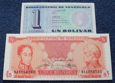 ZESTAW BANKNOTÓW STARA WENEZUELA !!! UNC KOMPLET