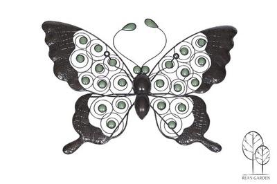 Dekorácia do záhrady - METAL nástenné dekorácie ozdoba Motýlí dom GARDEN