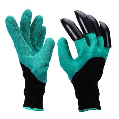 перчатки садовое защитные ГРАБЛИ КОГТИ НОГТИ