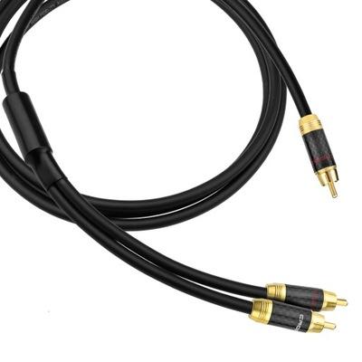 Kabel 1RCA-2RCA typu Y do subwoofera Klotz - 14m