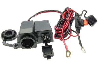 otvoru zapaľovača na cigarety a USB na volante, 10A 12-24V