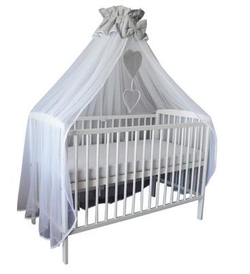 Балдахин из тюля осенит целые кроватка - Серый