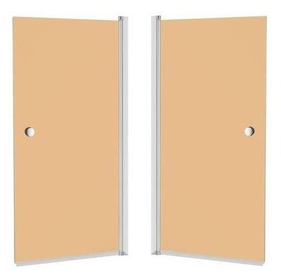 Sprchové dvere - CREATIVE SCREEN CRISTAL 140x70 hnedá