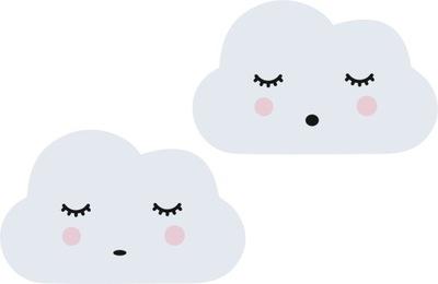 Spiace roztomilé mraky, škandinávsky štýl, dieťa
