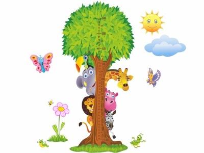 мерка РОСТ наклейка Стены Для ребенка детей