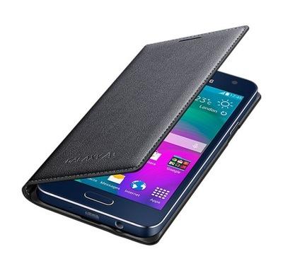 Etui Flip Cover Samsung Galaxy A3 A300 Grafitowy