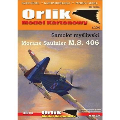 Орлик 029 - Самолет Morane Saulnier MS 406 1 :33