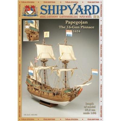 SHIPYARD 34 - Okręt żaglowy Papegojan 1:96
