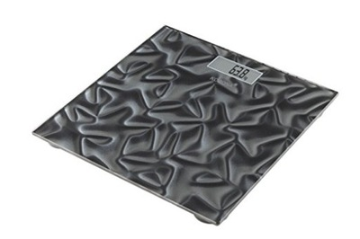 Osobná váha - Szklana Waga łazienkowa Korona SARA 150kg Czarna